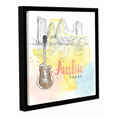 'US Cities I' Framed Graphic Art Size: 14