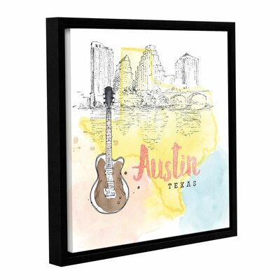 'US Cities I' Framed Graphic Art Size: 10