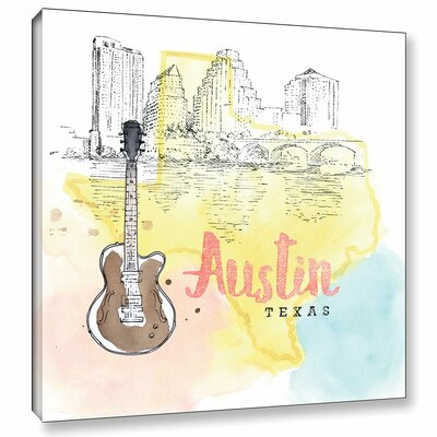 'US Cities I' Graphic Art on Wrapped Canvas Size: 14