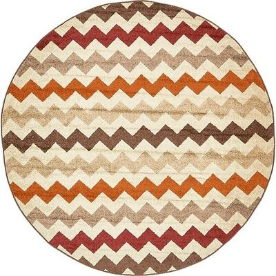 Bryan Beige Chevron Area Rug Rug Size: Rectangle 5 x 8