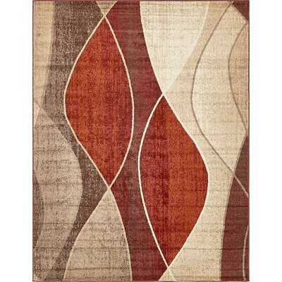 Bryan Red/Beige Area Rug Rug Size: 9 x 12