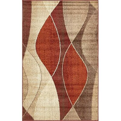 Bryan Red/Beige Area Rug Rug Size: Rectangle 5 x 8