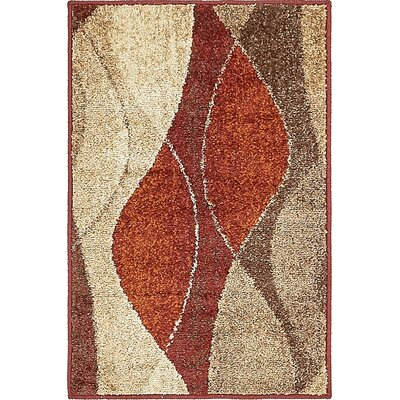 Christie Red/Beige Area Rug Rug Size: 2 x 3