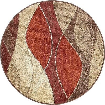 Christie Red/Beige Area Rug Rug Size: Runner 26 x 10