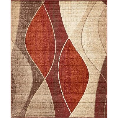 Christie Red/Beige Area Rug Rug Size: 8 x 10