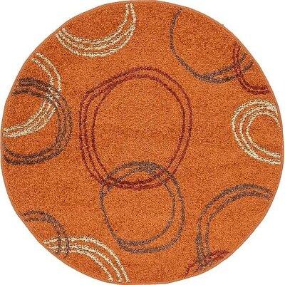 Christie Terracotta Area Rug Rug Size: Round 33