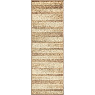 Bryan Beige Striped Area Rug Rug Size: Runner 2 x 6