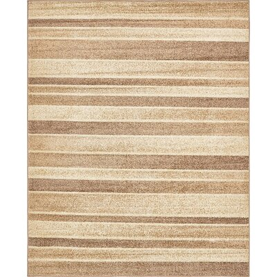 Bryan Beige Striped Area Rug Rug Size: Rectangle 9' x 12'