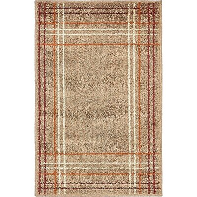 Bryan Light Brown Plaid Area Rug Rug Size: 2 x 3