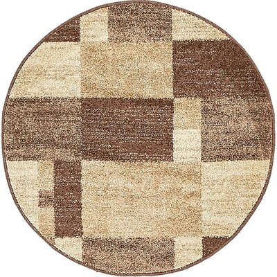 Christie Light Brown Area Rug Rug Size: Round 33