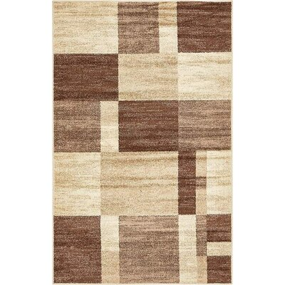 Christie Light Brown Area Rug Rug Size: 5 x 8