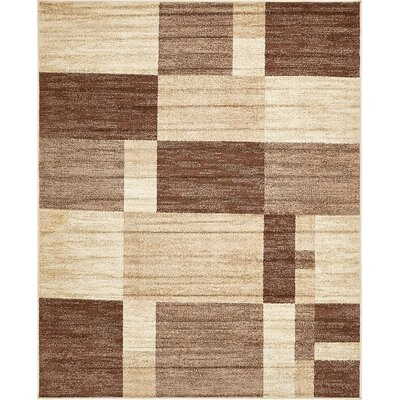 Christie Light Brown Area Rug Rug Size: 8 x 10