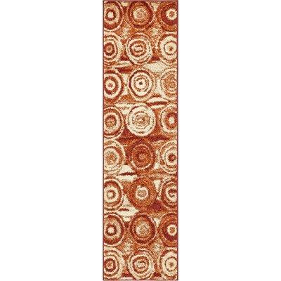 Christie Terracotta Area Rug Rug Size: Runner 26 x 10
