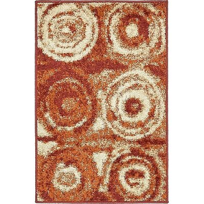 Bryan Terracotta Geometric Area Rug Rug Size: Rectangle 2 x 3