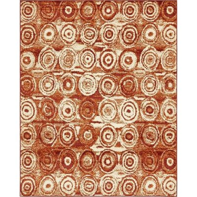 Bryan Terracotta Geometric Area Rug Rug Size: Rectangle 8 x 10
