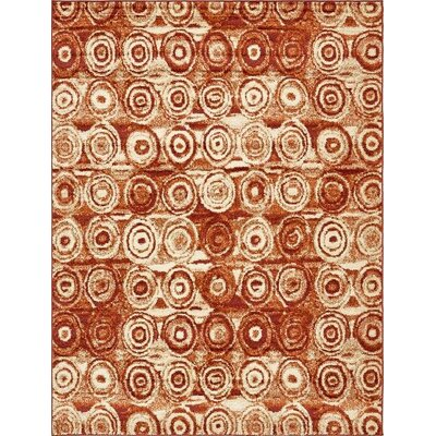 Bryan Terracotta Geometric Area Rug Rug Size: Rectangle 9 x 12