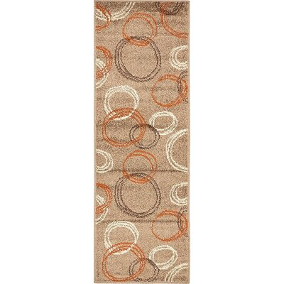 Bryan Light Brown Area Rug Rug Size: Rectangle 6' x 2'