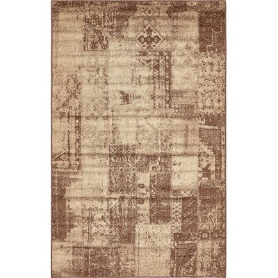 Christie Brown Area Rug Rug Size: 5 x 8