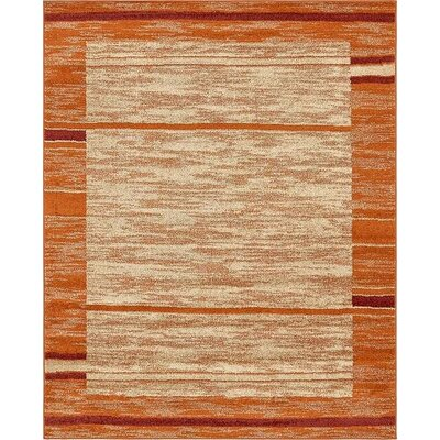 Bryan Terracotta Tibetan Area Rug Rug Size: Rectangle 8 x 10