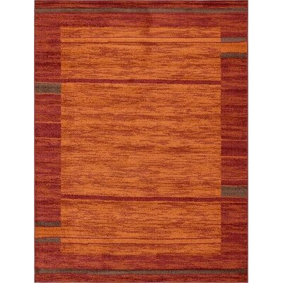 Bryan Stain-resistant Terracotta Tibetan Area Rug Rug Size: 9 x 12