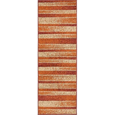 Bryan Rust Red Area Rug Rug Size: Runner 2 x 6