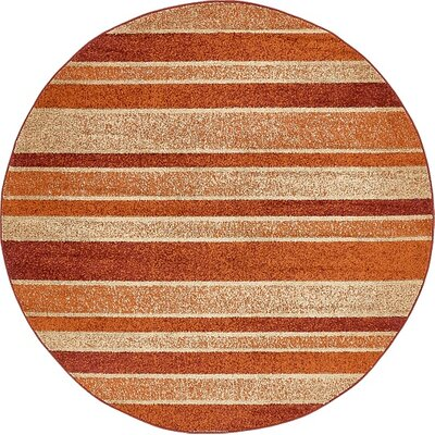 Bryan Rust Red Area Rug Rug Size: Round 8