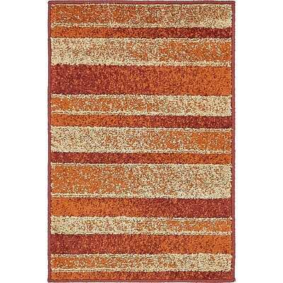 Bryan Rust Red Area Rug Rug Size: 2 x 3