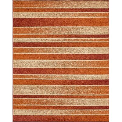Bryan Rust Red Area Rug Rug Size: Rectangle 8 x 10