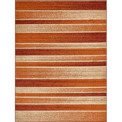 Bryan Rust Red Area Rug Rug Size: Rectangle 9 x 12