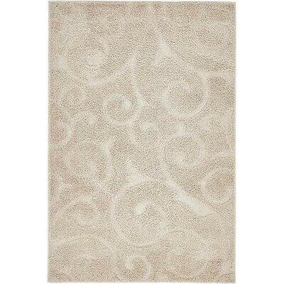 Dwight Floral Beige Area Rug Rug Size: 9 x 12