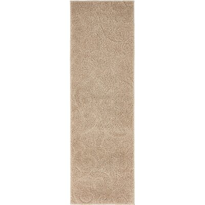 Bertram Floral Beige Area Rug Rug Size: Rectangle 4 x 6