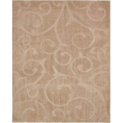 Bertram Floral Beige Area Rug Rug Size: Rectangle 8 x 10