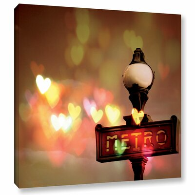 'Night Life Paris' Graphic Art on Wrapped Canvas Size: 10