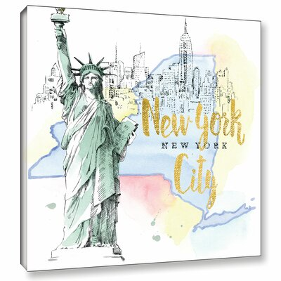 'US Cities IV' Graphic Art on Wrapped Canvas Size: 10