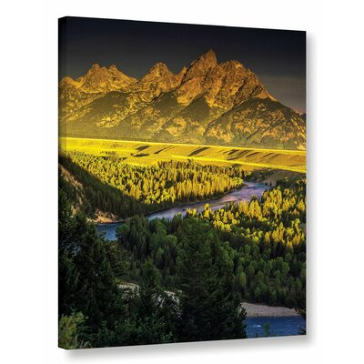 'Grand Tetons' Photographic Print on Wrapped Canvas Size: 10