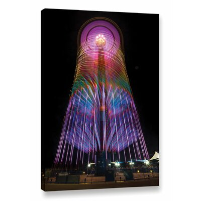 'Cedar Point 3' Graphic Art on Wrapped Canvas Size: 18
