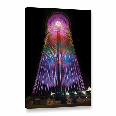 'Cedar Point 3' Graphic Art on Wrapped Canvas Size: 12