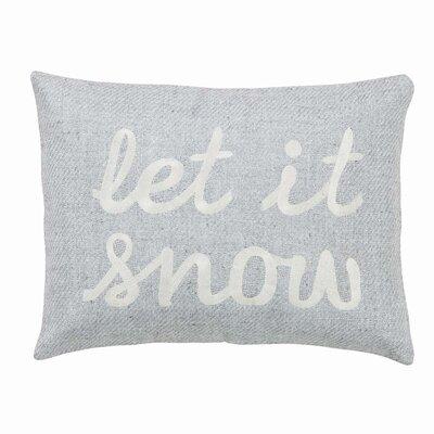 Christopher Let It Snow Throw Pillow