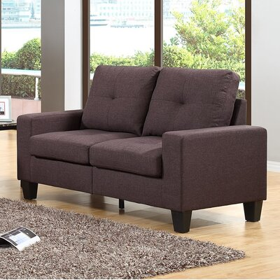 Winefred Loveseat Upholstery: Chocolate