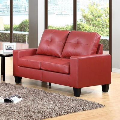 Winefred Loveseat Upholstery: Red