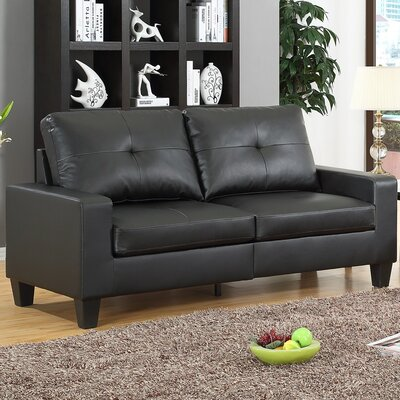 Winefred  Sofa Upholstery: Black