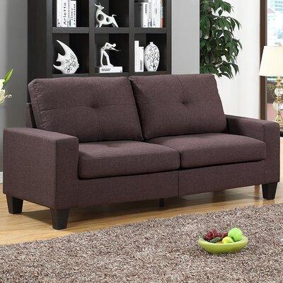Winefred  Sofa Upholstery: Chocolate