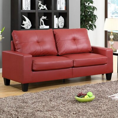Winefred  Sofa Upholstery: Red