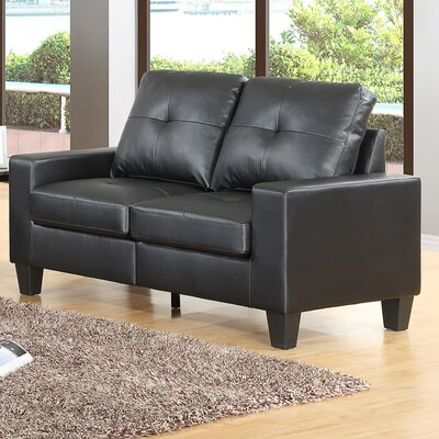 Winefred Loveseat Upholstery Color: Black