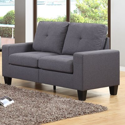 Winefred Loveseat Upholstery Color: Gray