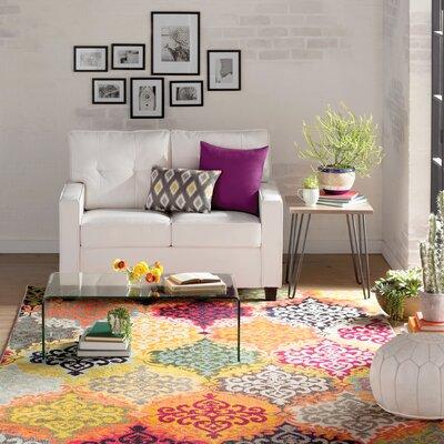 Ella Loveseat Upholstery: White