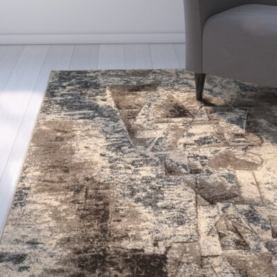 Milam Gray/Beige Area Rug Rug Size: Rectangle 5 x 76