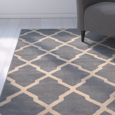 Rosella Area Rug in Gray Rug Size: 67 x 96