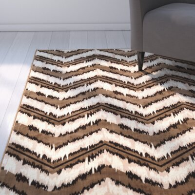 Beirut Beige/Brown Area Rug Rug Size: Rectangle 5 x 76