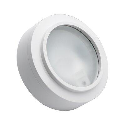 Cheryll 3-Light Metal Flush Mount Finish: White